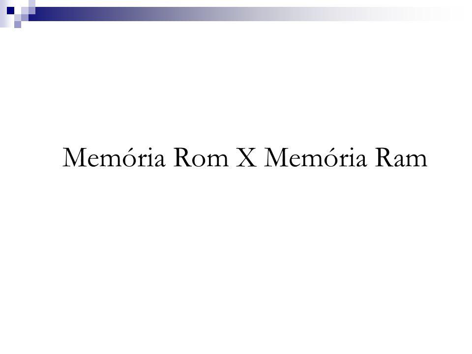 Memória Rom BIOS(Basic Input Output System) – Sistema Básico de Entrada e Saída.