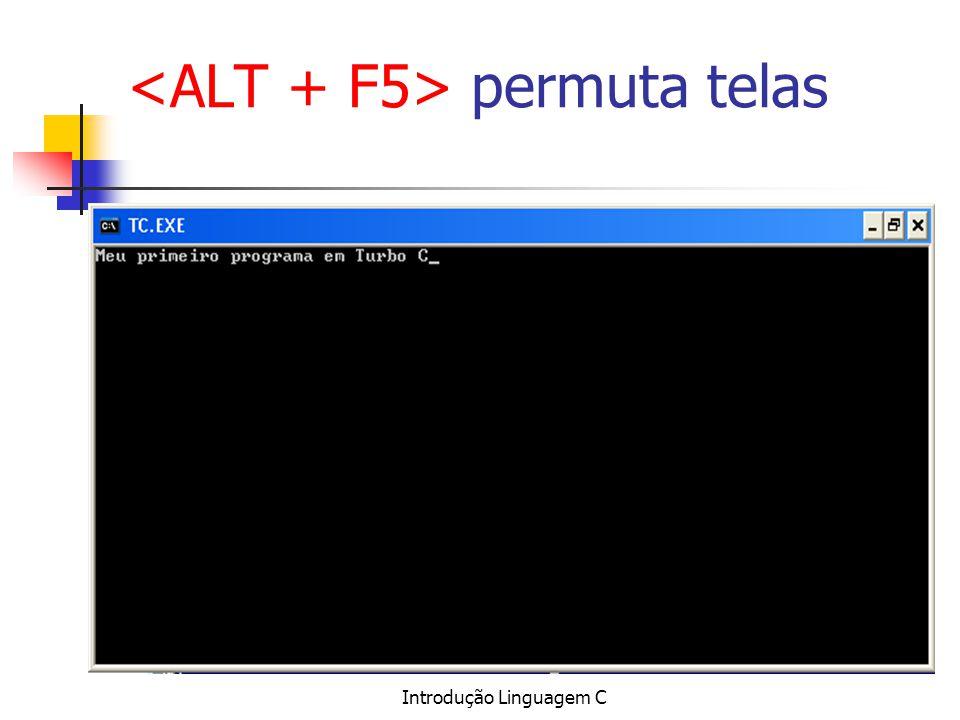 Introdução Linguagem C permuta telas