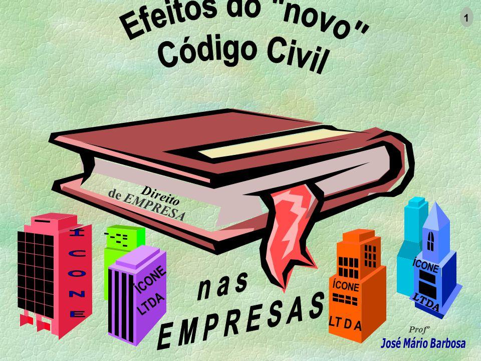 Direito de EMPRESA Profº 1 ÍCONE LTDA ÍCONE LTDA