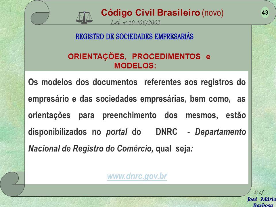 Código Civil Brasileiro (novo) Lei nº 10.406/2002 4.4 - Da ESCRITURAÇÃO - Arts.