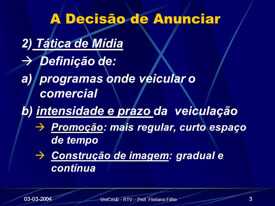 03-03-2004 UniCeub – RTV – Prof.