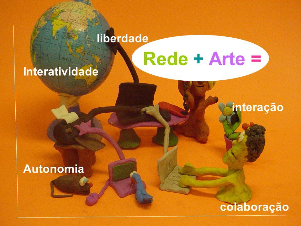 Rede + Arte = colaboração Interatividade Autonomia liberdade interação
