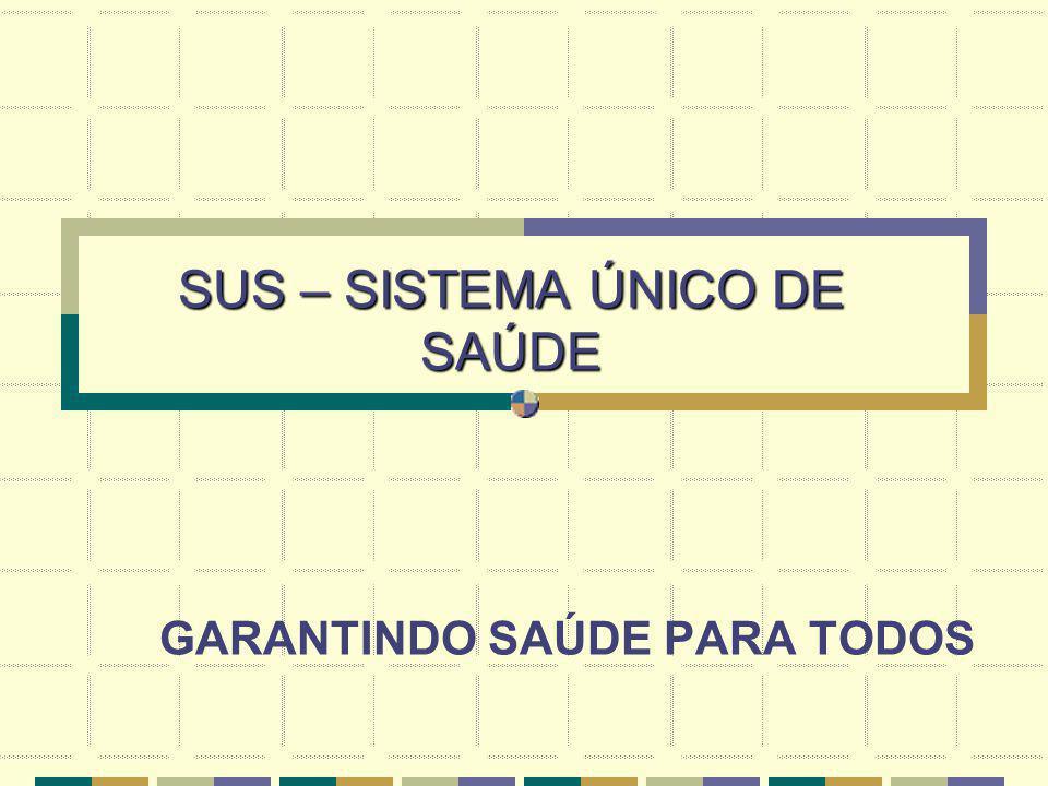 SUS – SISTEMA ÚNICO DE SAÚDE GARANTINDO SAÚDE PARA TODOS