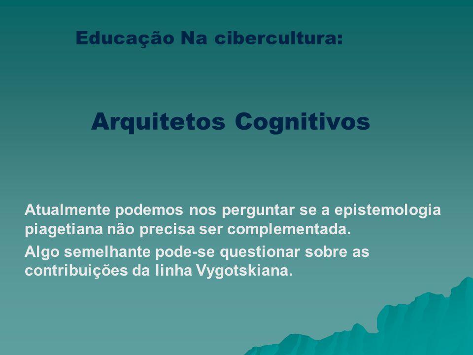 Arquitetos Cognitivos O professor-arquiteto cognitivo já se anuncia em várias dimensões. Os últimos documentos educacionais em especial os Parâmetros