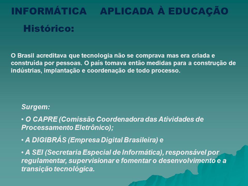 O Brasil acreditava que tecnologia não se comprava mas era criada e construída por pessoas.
