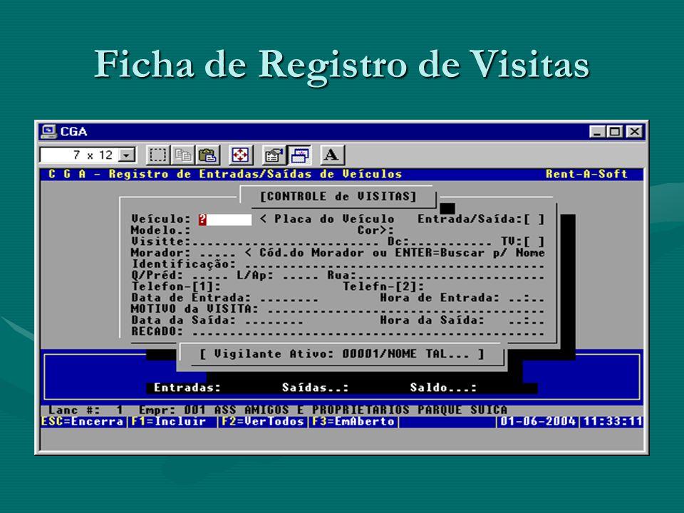 Ficha de Registro de Visitas