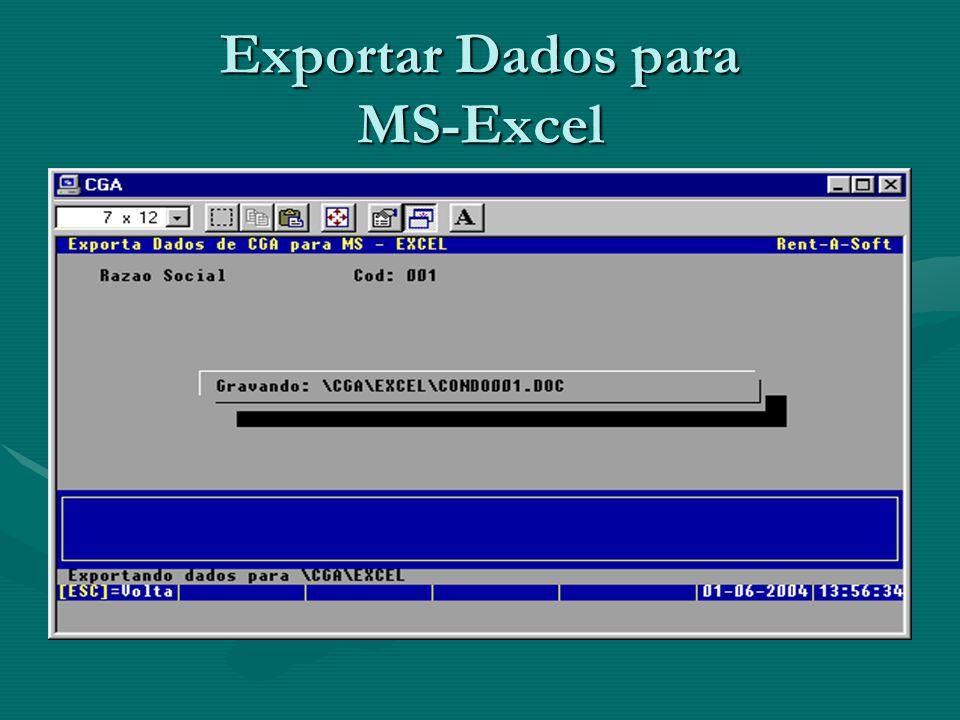 Exportar Dados para MS-Excel
