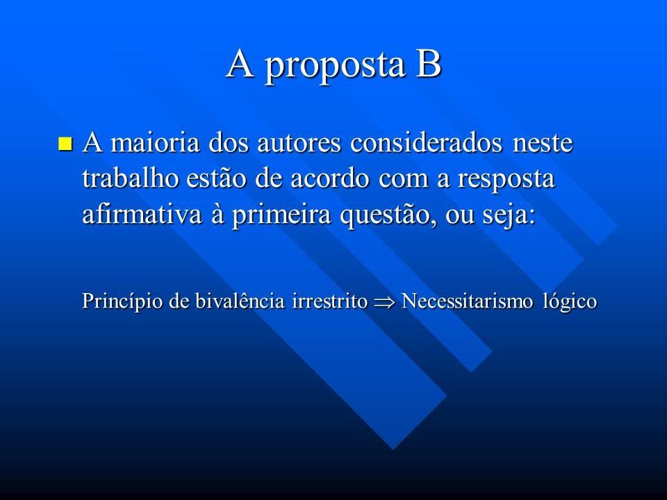 A proposta B Podemos considerar duas etapas ordenadas das posições citadas acima. Podemos considerar duas etapas ordenadas das posições citadas acima.