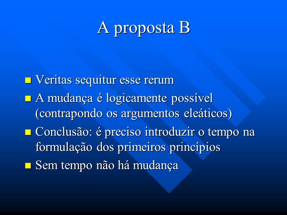 A proposta B Questão: É possível refutar o argumento necessitarista contido no capítulo IX do Questão: É possível refutar o argumento necessitarista c