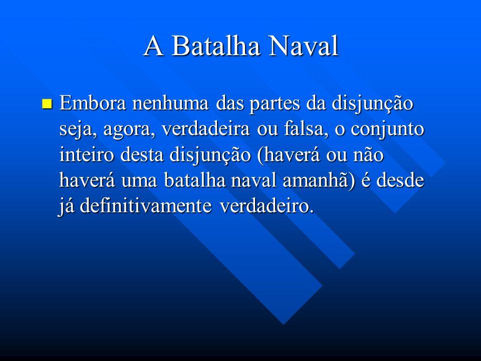 A Batalha Naval Aristóteles Argumenta que não podem valer, ao mesmo tempo, os seguintes casos: Aristóteles Argumenta que não podem valer, ao mesmo tem