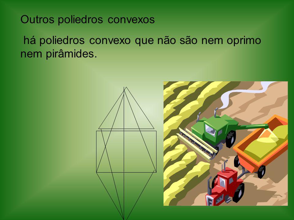 Outros poliedros convexos há poliedros convexo que não são nem oprimo nem pirâmides.