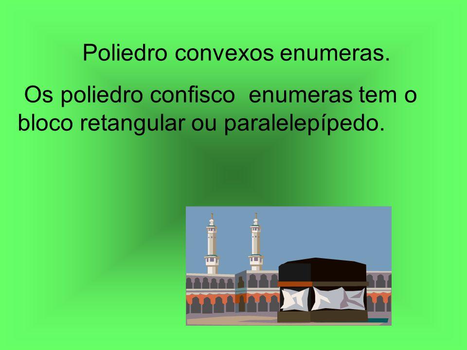 Poliedro convexos enumeras. Os poliedro confisco enumeras tem o bloco retangular ou paralelepípedo.