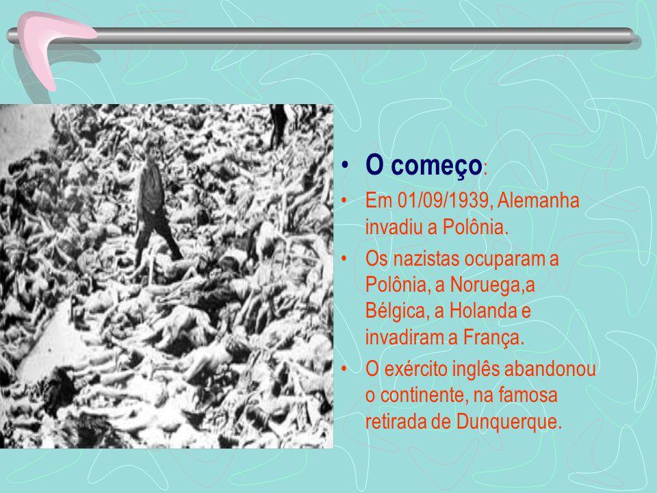 O começo : Em 01/09/1939, Alemanha invadiu a Polônia.