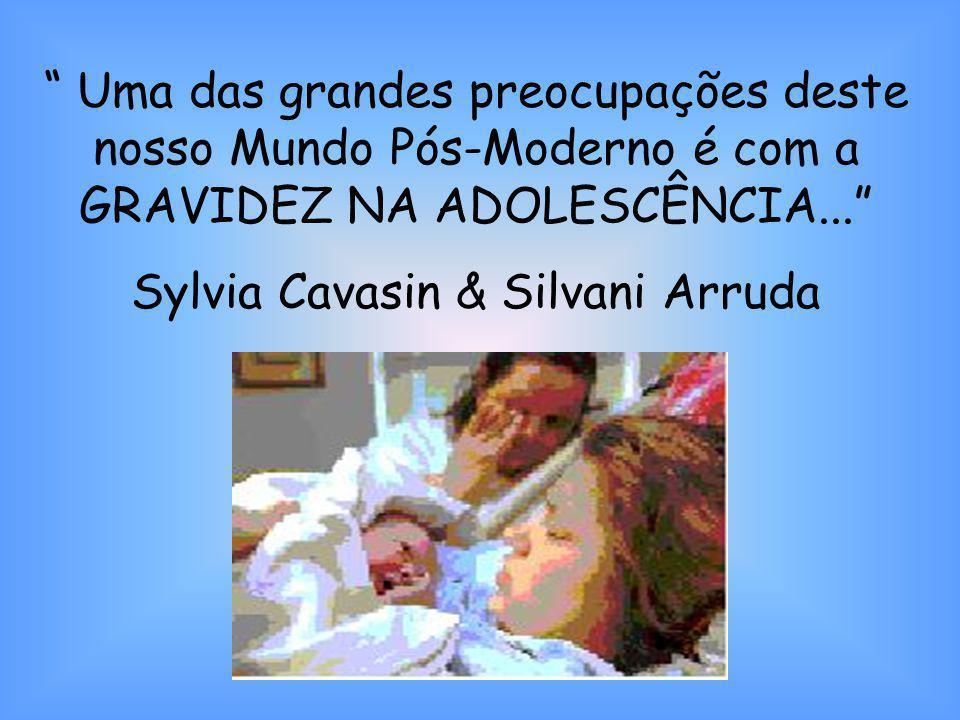 Uma das grandes preocupações deste nosso Mundo Pós-Moderno é com a GRAVIDEZ NA ADOLESCÊNCIA... Sylvia Cavasin & Silvani Arruda