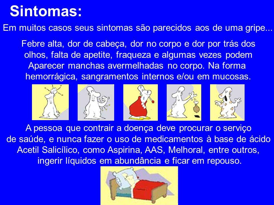 Sintomas: Em muitos casos seus sintomas são parecidos aos de uma gripe...
