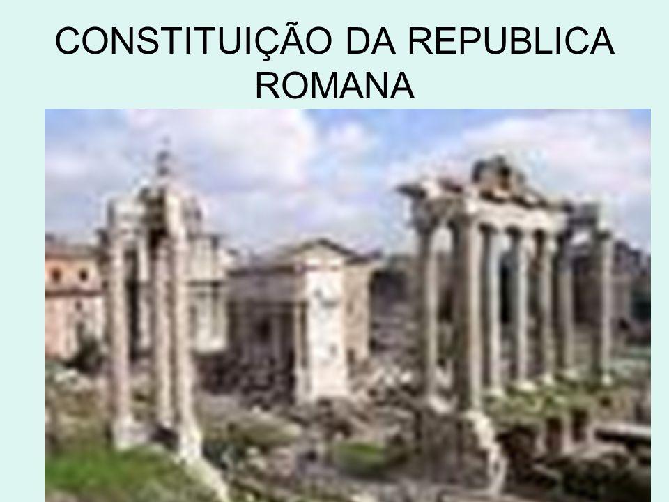 CONSTITUIÇÃO DA REPUBLICA ROMANA