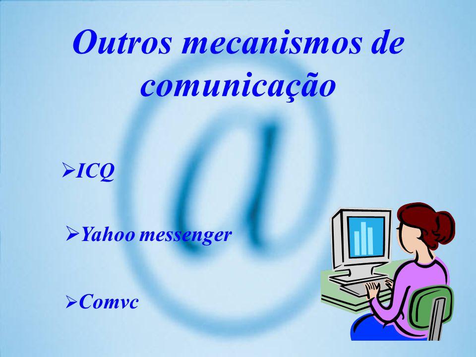Outros mecanismos de comunicação ICQ Yahoo messenger Comvc