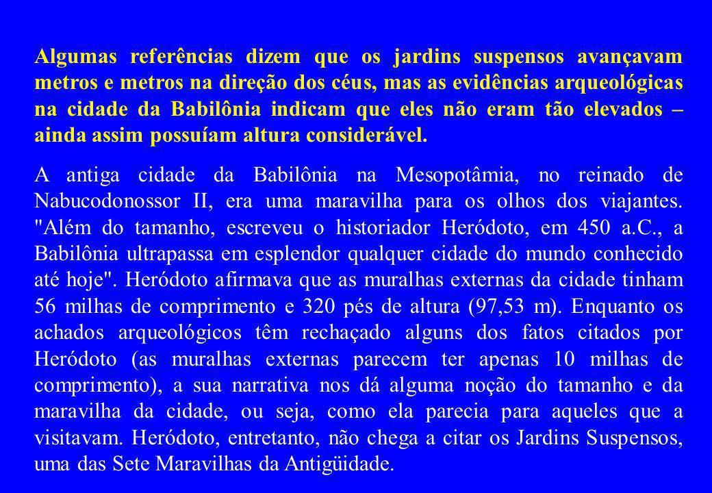 JARDINS SUSPENSOS BABILÔNIA