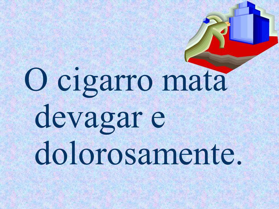 O cigarro causa mau hálito,perda dos dentes E câncer de boca.