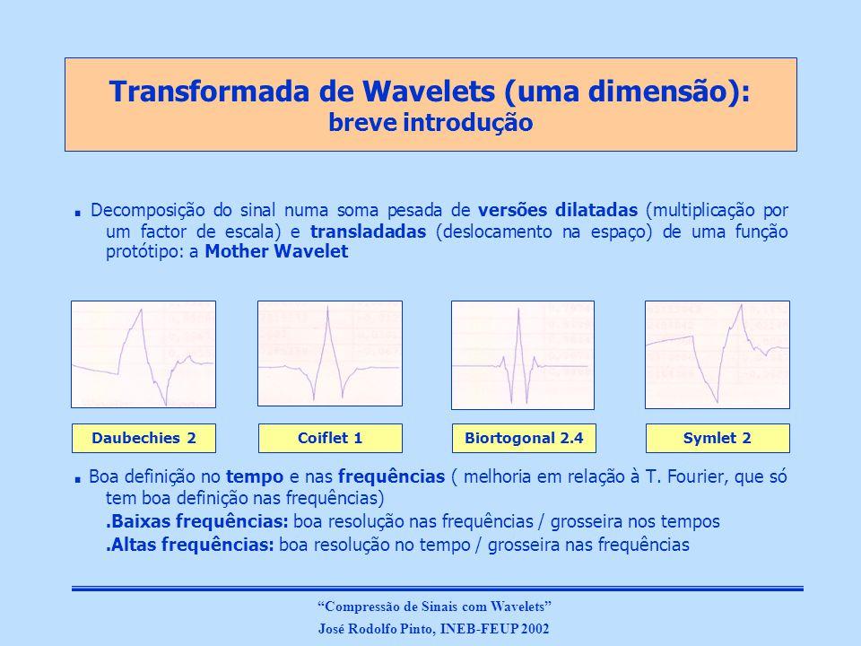 Transformada de Wavelets (uma dimensão): breve introdução.