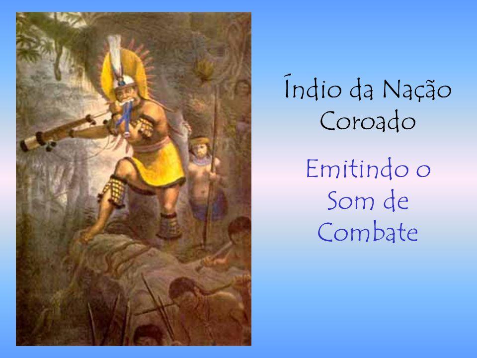 Índio da Nação Coroado Emitindo o Som de Combate