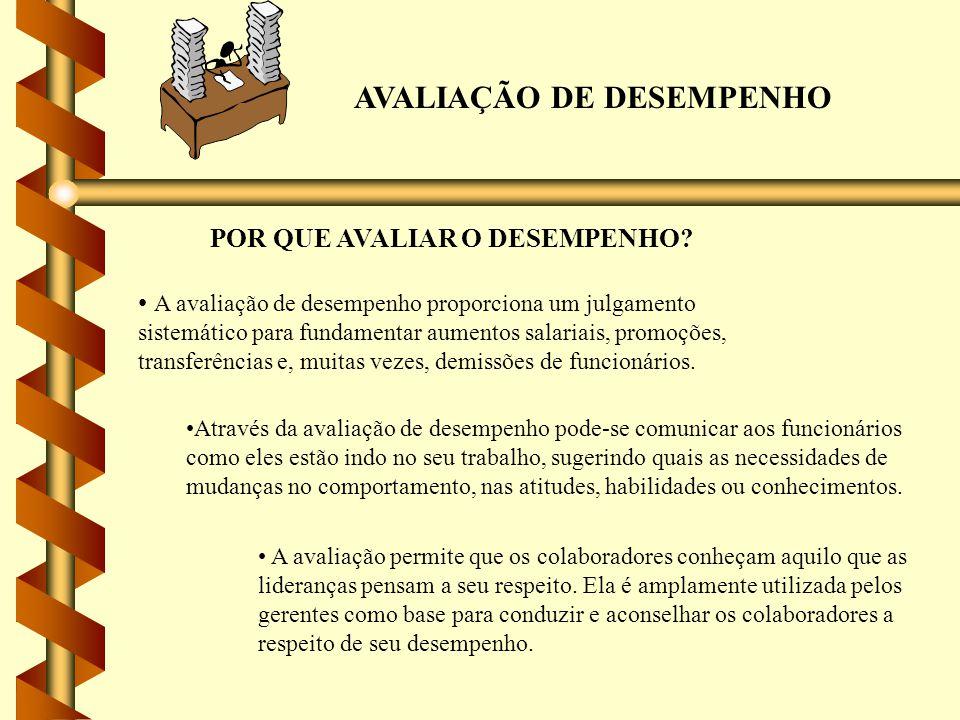 AVALIAÇÃO DE DESEMPENHO QUEM DEVE AVALIAR O DESEMPENHO.