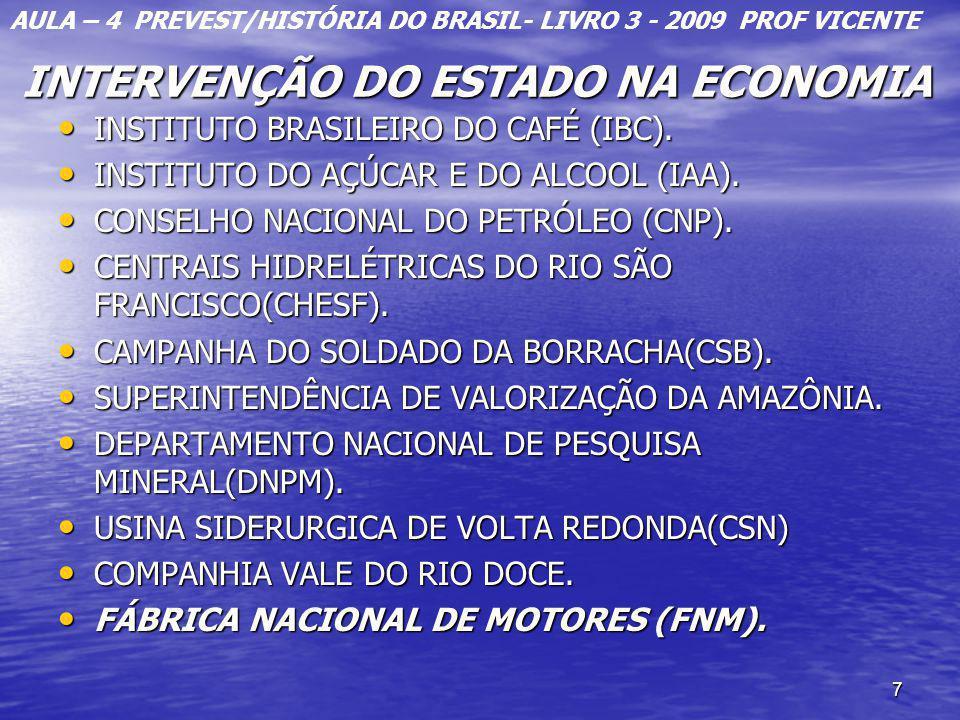7 INTERVENÇÃO DO ESTADO NA ECONOMIA INTERVENÇÃO DO ESTADO NA ECONOMIA INSTITUTO BRASILEIRO DO CAFÉ (IBC). INSTITUTO BRASILEIRO DO CAFÉ (IBC). INSTITUT