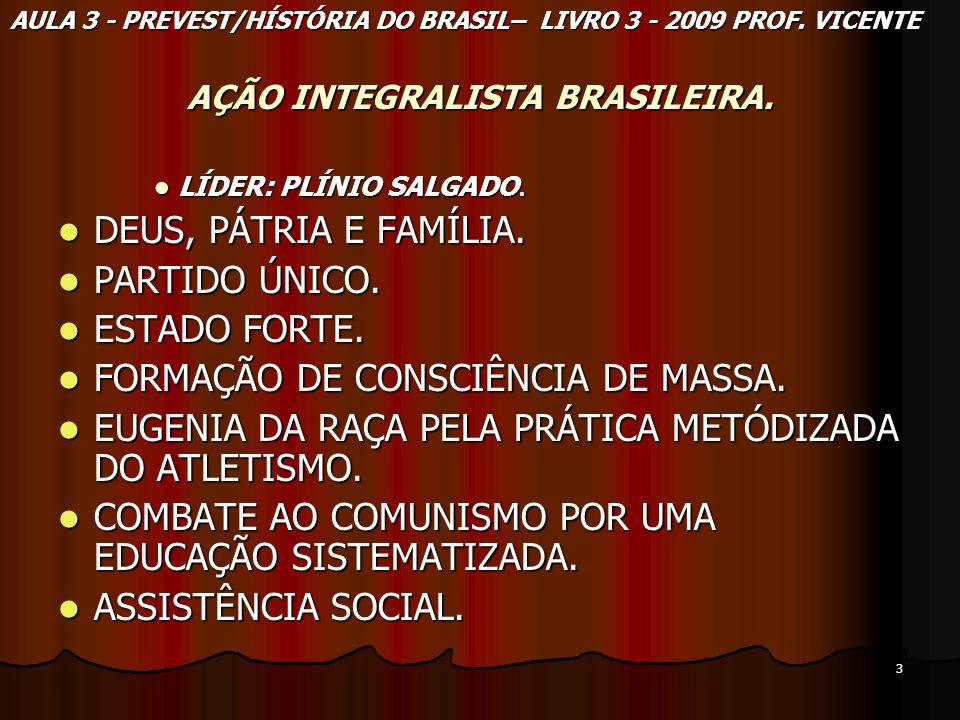3 AÇÃO INTEGRALISTA BRASILEIRA. LÍDER: PLÍNIO SALGADO. LÍDER: PLÍNIO SALGADO. DEUS, PÁTRIA E FAMÍLIA. DEUS, PÁTRIA E FAMÍLIA. PARTIDO ÚNICO. PARTIDO Ú
