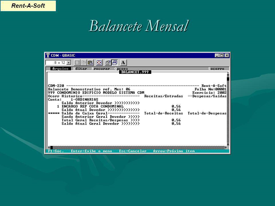 Balancete Mensal Rent-A-Soft