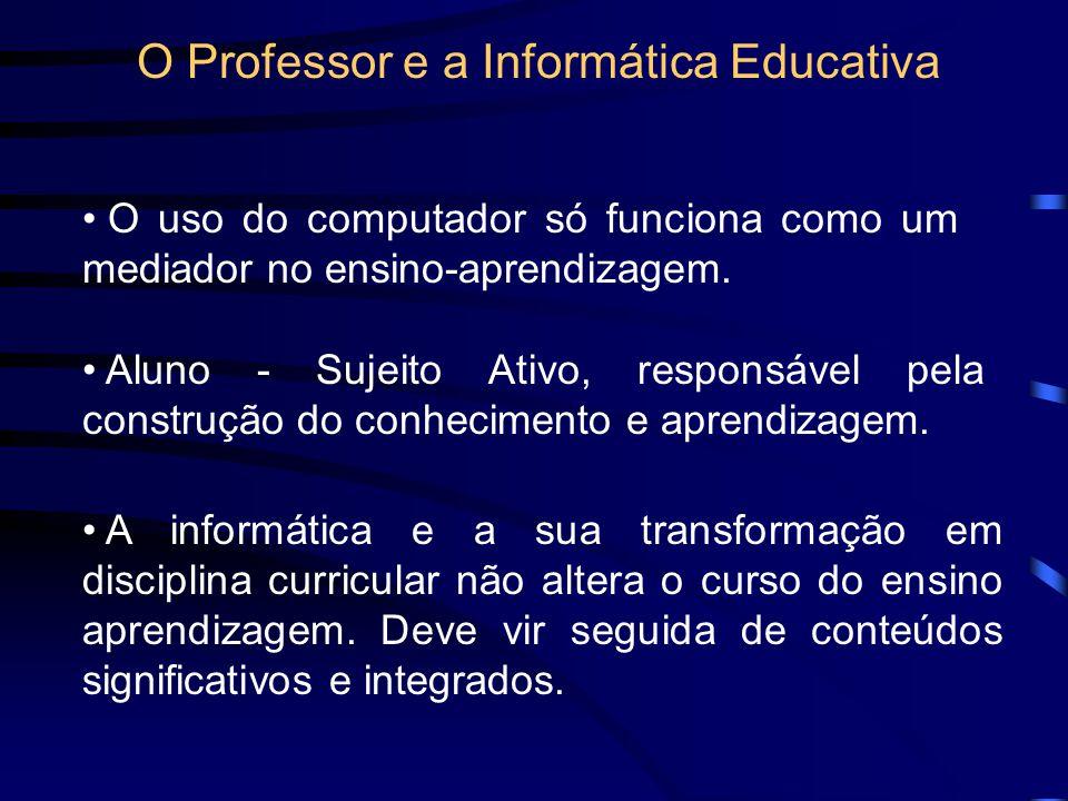 O PROFESSOR E A INFORMÁTICA EDUCATIVA Alba Maria Lemme Weiss Mara Lúcia R. Monteiro da Cruz