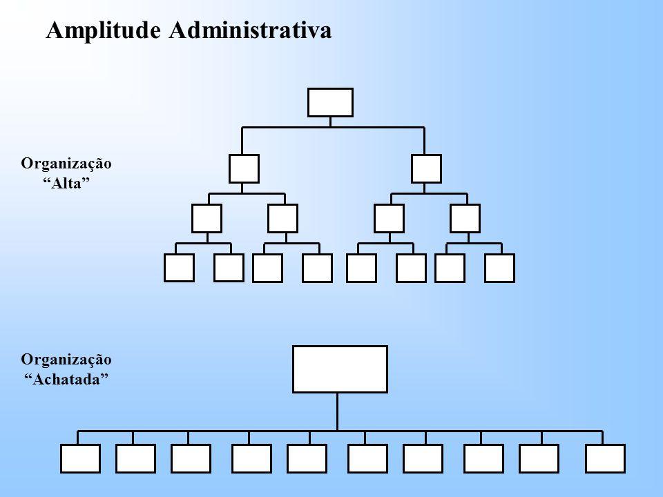 Organização Achatada Amplitude Administrativa Organização Alta