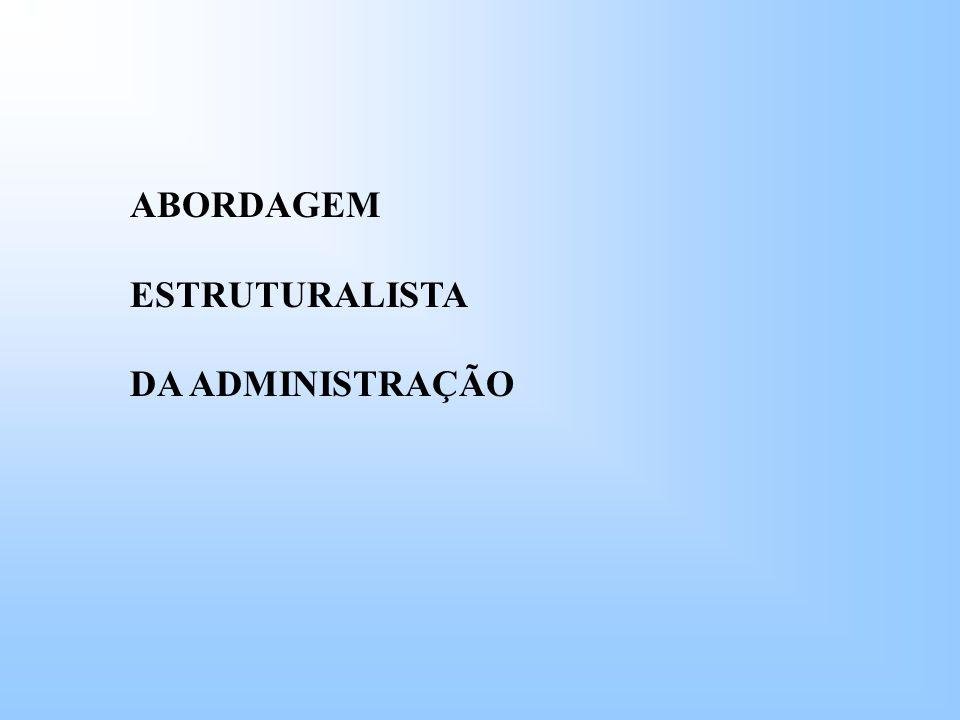 ABORDAGEM ESTRUTURALISTA DA ADMINISTRAÇÃO