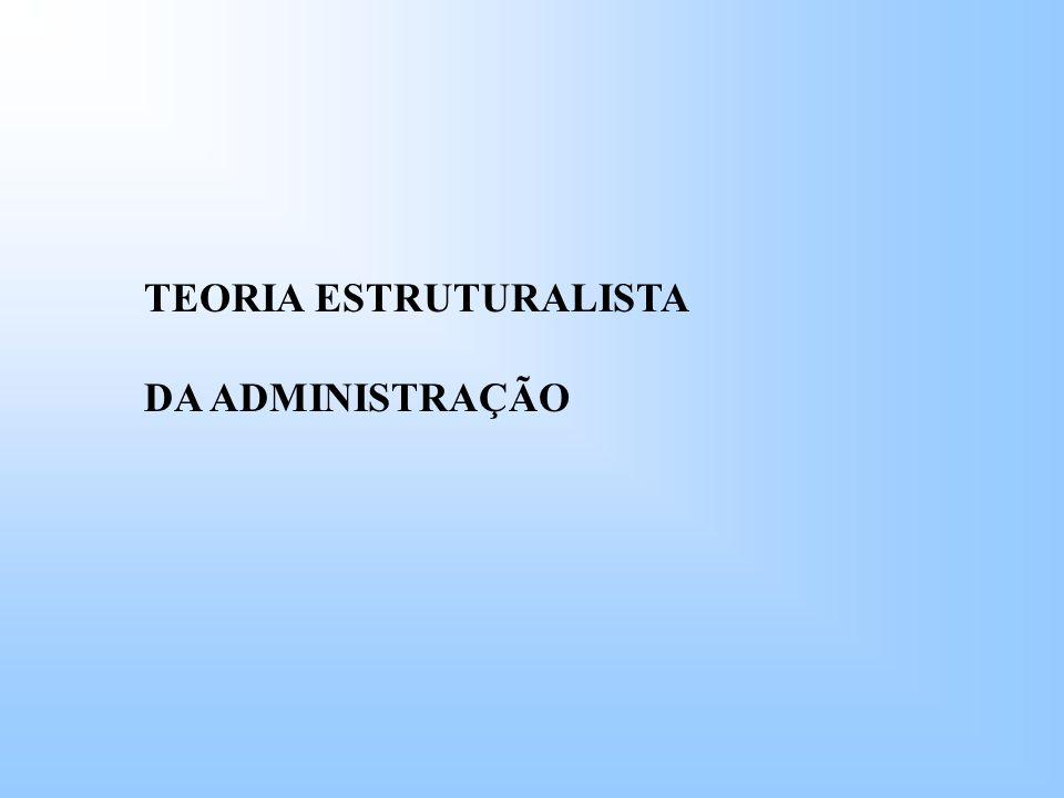 TEORIA ESTRUTURALISTA DA ADMINISTRAÇÃO