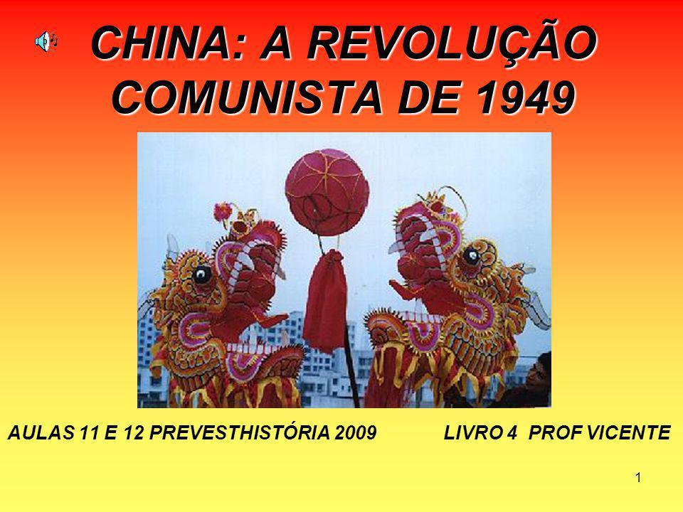 12 ESTRUTURA DO COMUNISMO CHINÊS POLITIBURO 1.CONGRESSO NACIONAL DO POVO (CNP) 2.PARTIDO COMUNISTA CHINÊS (PCCh) 3.EXÉRCITO POPULAR DE LIBERTAÇÃO (EPL) 4.GUARDA VERMELHA (GV)Obs: só durante a Revolução Cultural 5.IDEOLOGIA: MAOÍSMO 6.OITO PARTIDOS DEMOCRÁTICOS 7.PROGRAMA COMUM CMB – PREVEST – HISTÓRIA – PALESTRA :CHINA PROF VICENTE 26-1-2007
