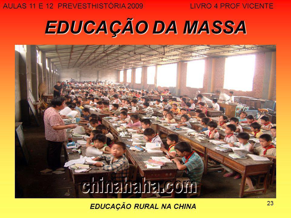 23 EDUCAÇÃO DA MASSA AULAS 11 E 12 PREVESTHISTÓRIA 2009 LIVRO 4 PROF VICENTE EDUCAÇÃO RURAL NA CHINA