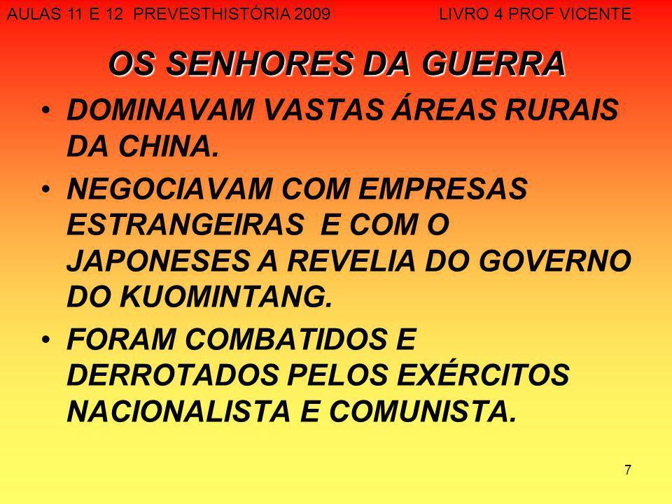 18 GRANDE REVOLUÇÃO CULTURAL PROLETÁRIA(1966-1976) EXPURGAR A BUROCRACIA DO PARTIDO COMUNISTA E MANTER A CONTINUAÇÃO DA REVOLUÇÃO COMBATER O SURGIMENTO DE CLASSES E CATEGORIAS DE PRIVILEGIADOS FORTALECER O ESPIRITO DA REVOLUÇÃO PERMITIR A RETOMADA DO PODER POR MAO TSE TUNG BRAÇO ARMADO: GUARDA-VERMELHA AULAS 11 E 12 PREVESTHISTÓRIA 2009 LIVRO 4 PROF VICENTE