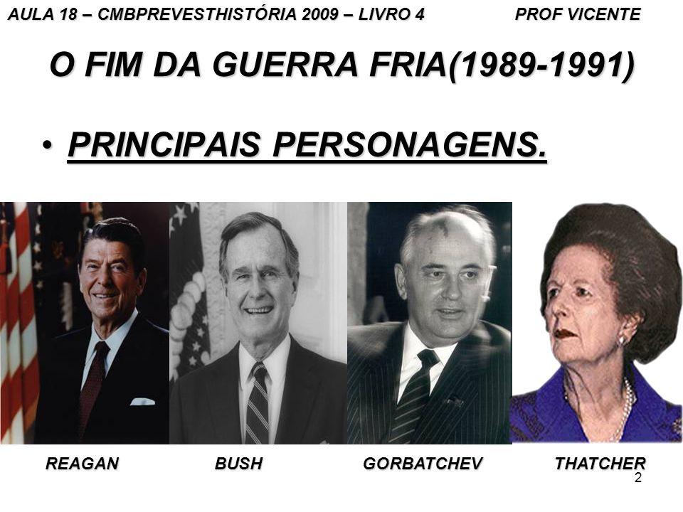 2 O FIM DA GUERRA FRIA(1989-1991) PRINCIPAIS PERSONAGENS.PRINCIPAIS PERSONAGENS.