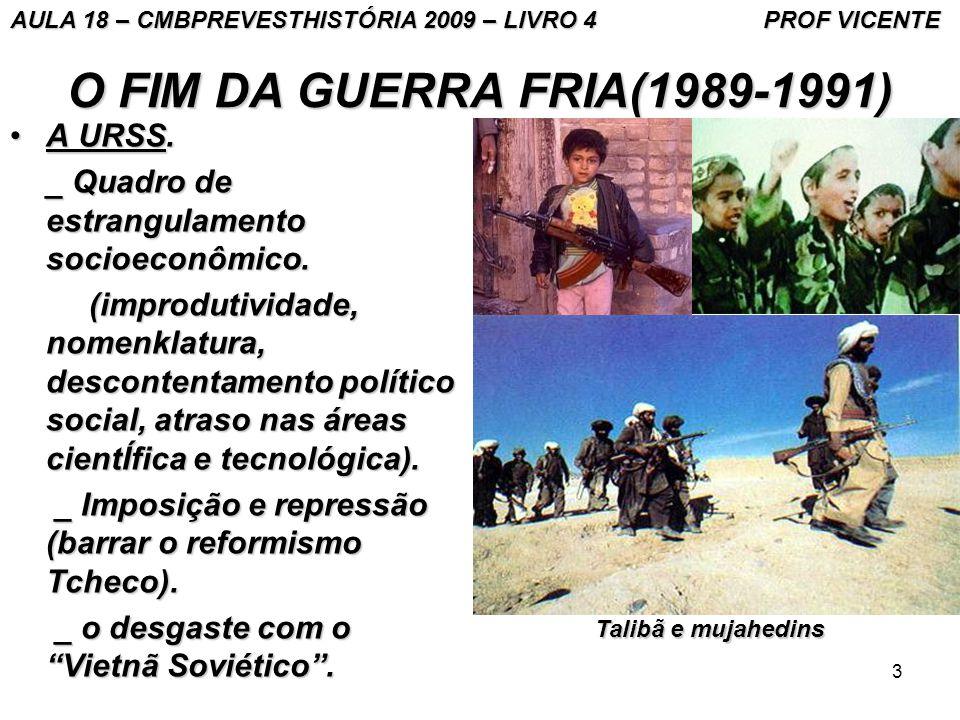 3 O FIM DA GUERRA FRIA(1989-1991) A URSS.A URSS._ Quadro de estrangulamento socioeconômico.