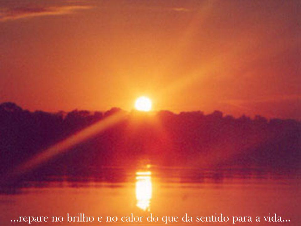 ...repare no brilho e no calor do que da sentido para a vida...