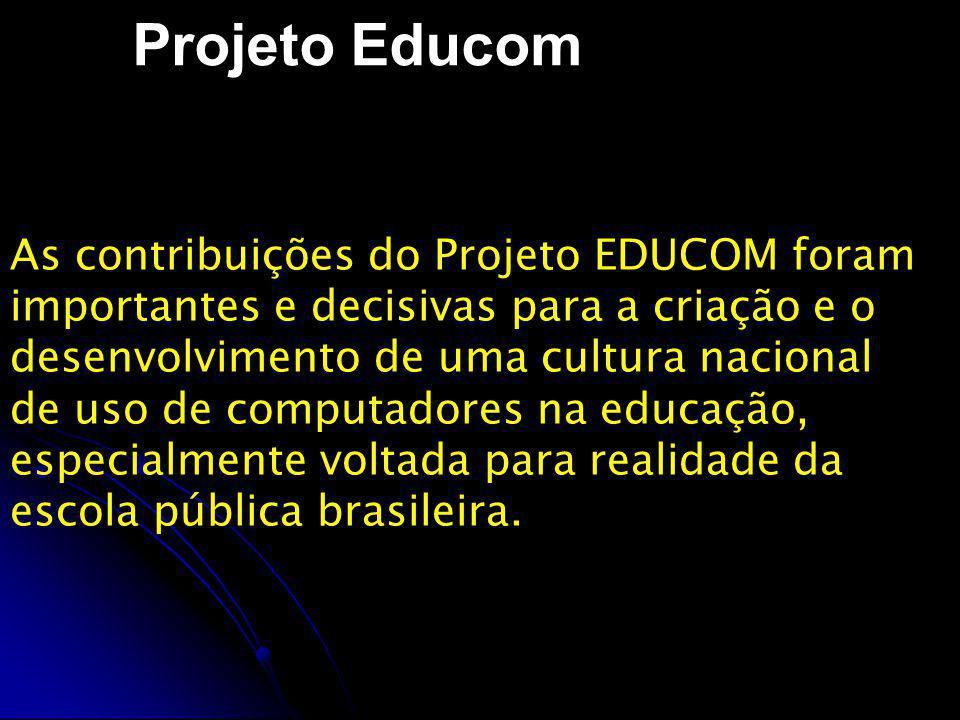 Projeto Formar O Projeto FORMAR, implementado em1987, foi criado por recomendação do Comitê Assessor de Informática e Educação do Ministério da Educação - CAIE/MEC, sob a coordenação do NIED/UNICAMP, e ministrado por pesquisadores e specialistas dos demais centros-piloto integrantes do projeto EDUCOM.