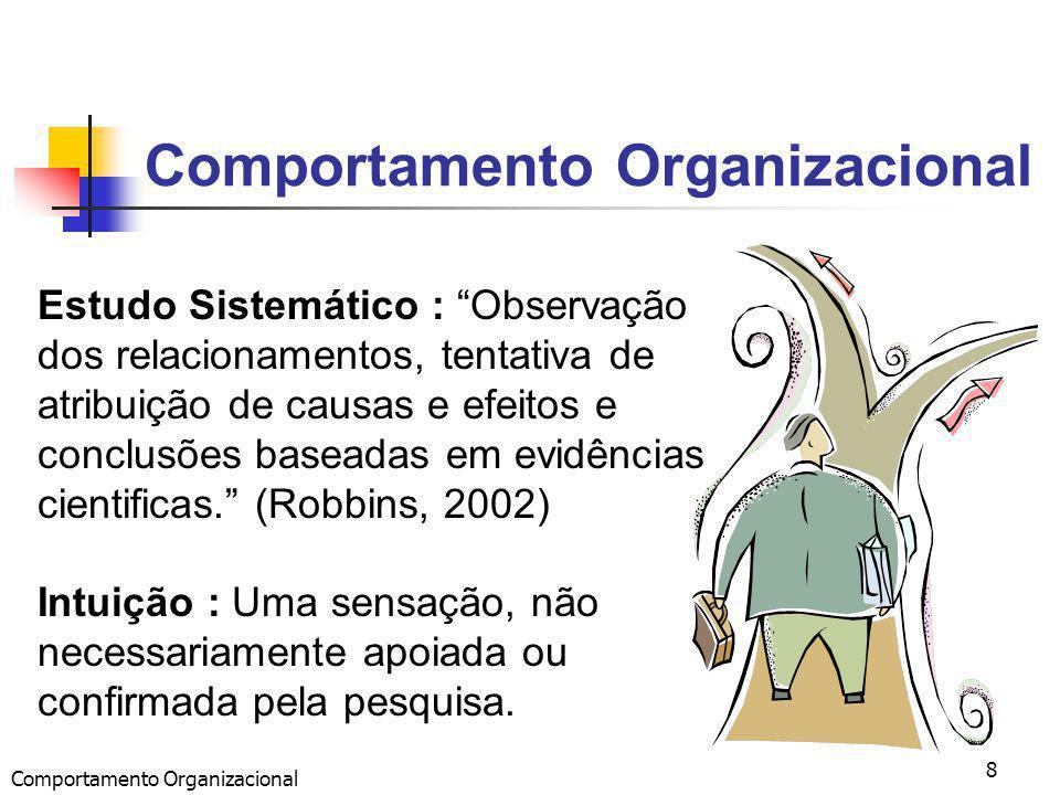 Comportamento Organizacional 8 Estudo Sistemático : Observação dos relacionamentos, tentativa de atribuição de causas e efeitos e conclusões baseadas em evidências cientificas.