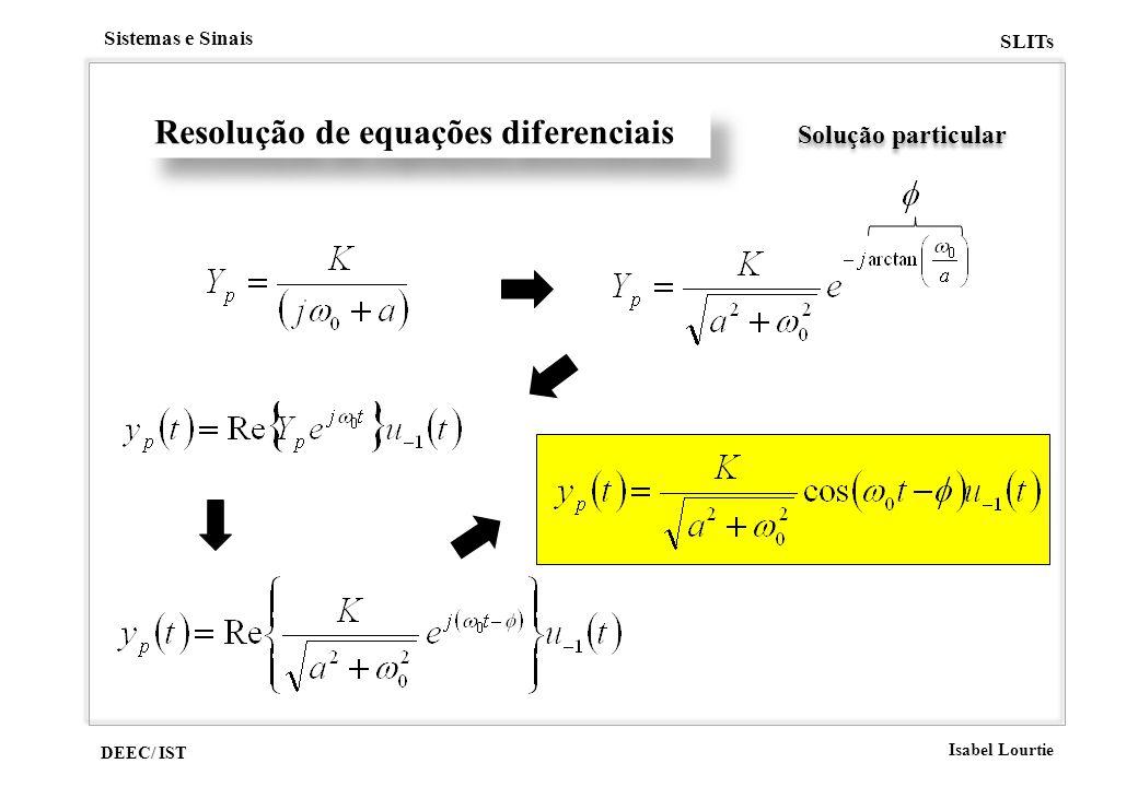DEEC/ IST Isabel Lourtie Sistemas e Sinais SLITs Resolução de equações diferenciais Solução particular