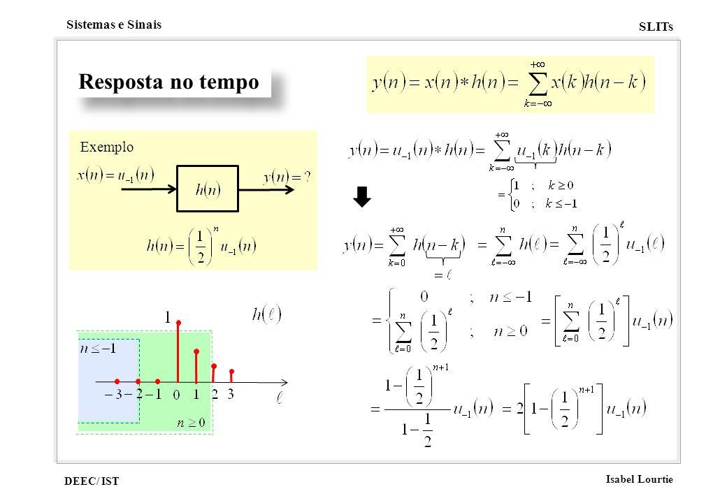 DEEC/ IST Isabel Lourtie Sistemas e Sinais SLITs Resposta no tempo Exemplo
