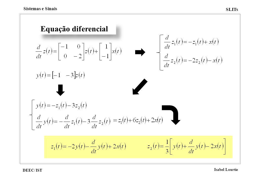 DEEC/ IST Isabel Lourtie Sistemas e Sinais SLITs Equação diferencial
