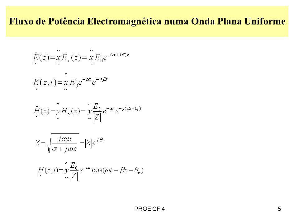 5 Fluxo de Potência Electromagnética numa Onda Plana Uniforme PROE CF 4