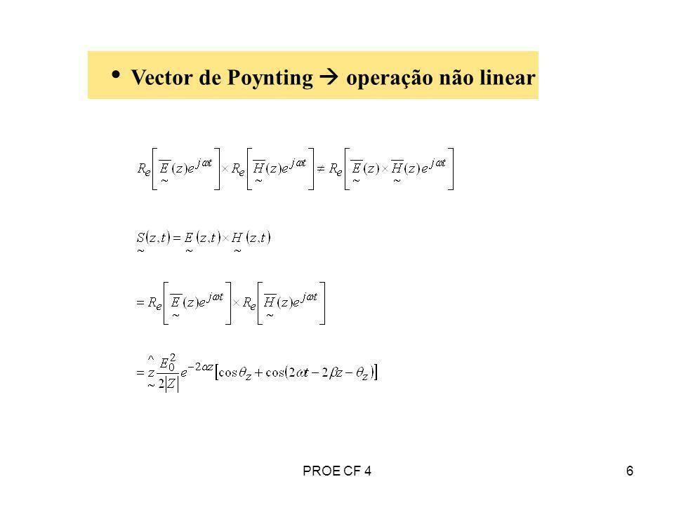 6 Vector de Poynting operação não linear PROE CF 4