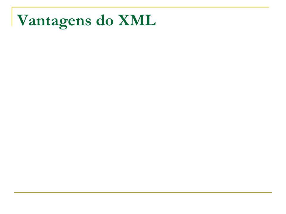 Vantagens do XML
