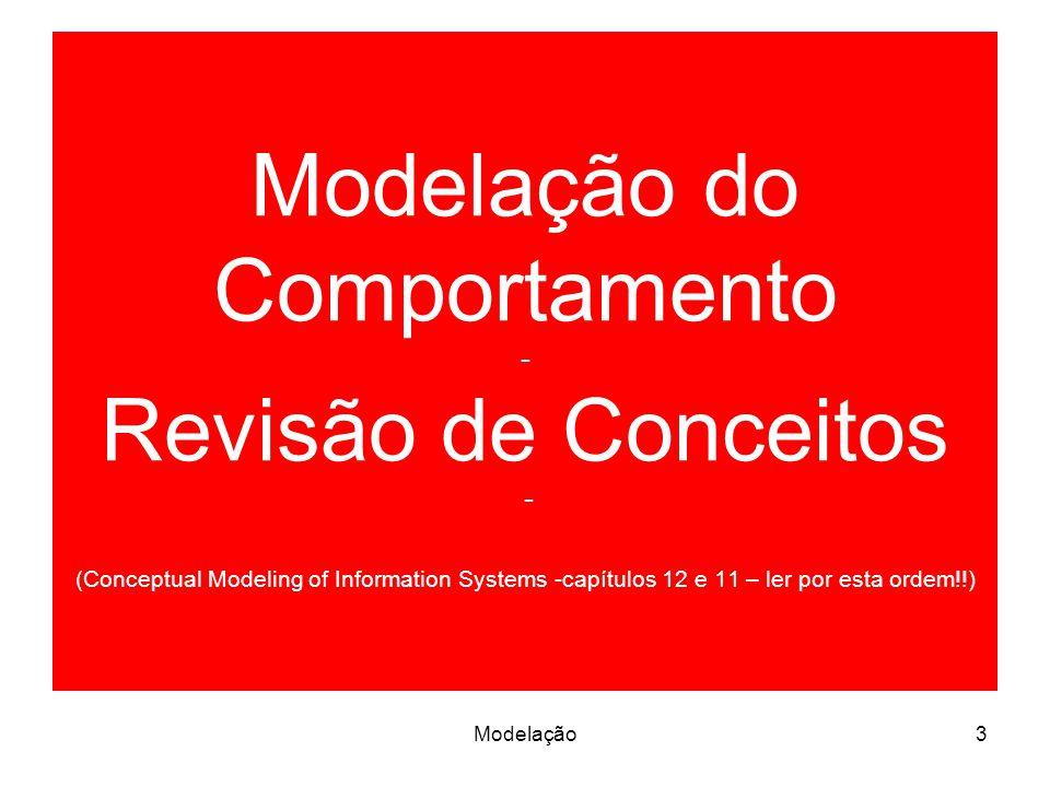 Modelação do Comportamento - Revisão de Conceitos - (Conceptual Modeling of Information Systems -capítulos 12 e 11 – ler por esta ordem!!) 3Modelação
