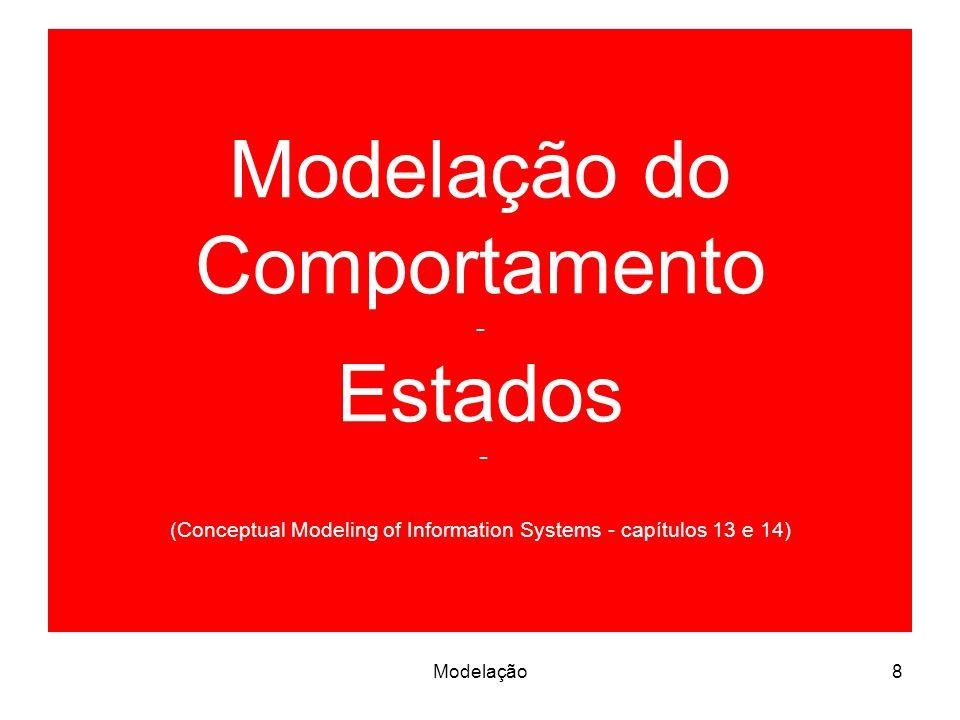 Modelação do Comportamento - Estados - (Conceptual Modeling of Information Systems - capítulos 13 e 14) 8Modelação