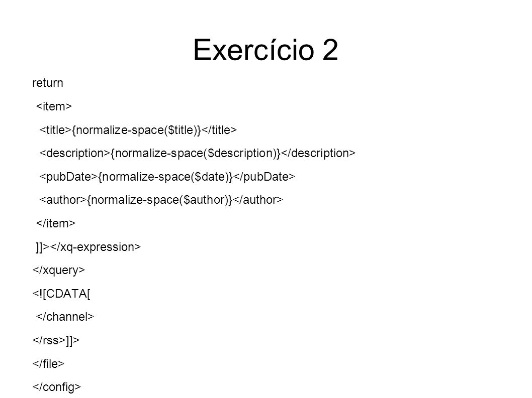 Exercício 3 Escreva um programa Java que, utilizando o LingPipe, faça a extracção de todas as datas mencionadas no ficheiro RSS obtido como saída no Exercício 2.